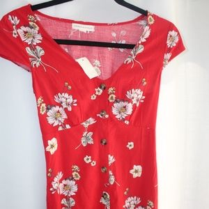 Aeropostale Floral Button Dress